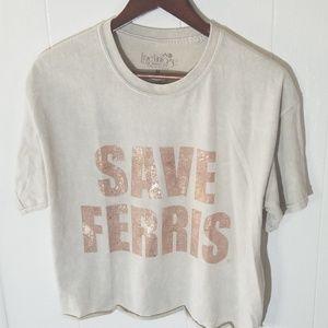 """True Vintage Tops - True Vintage Tee """"Save Ferris"""""""